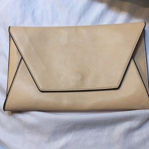 Cream/beige Zara clutch